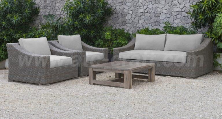 Bộ sofa mây nhựa ngoài trời đơn giản RASF-125