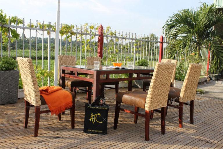 dining water hyacinth furniture WAIS-133