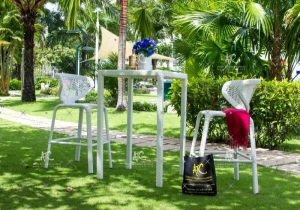 Outdoor wicker cafe furniture RABR-102