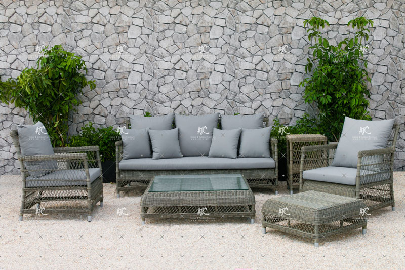 Outdoor wicker dining set RASF 040