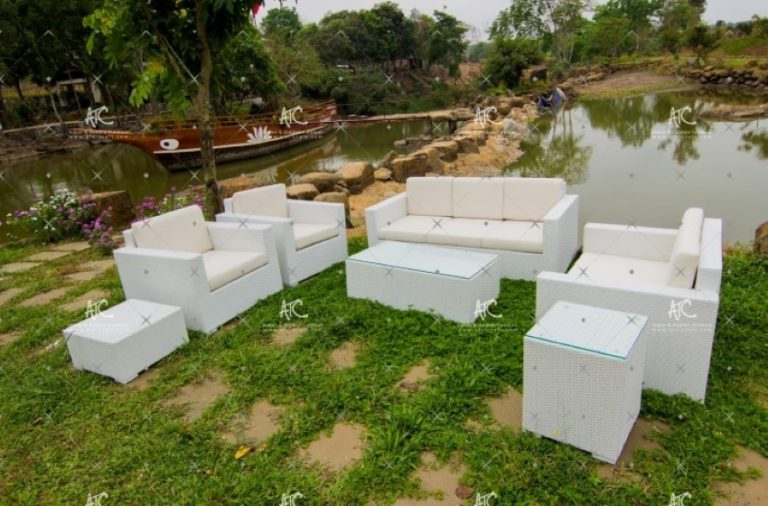Outdoor wicker sofa set RASF 008