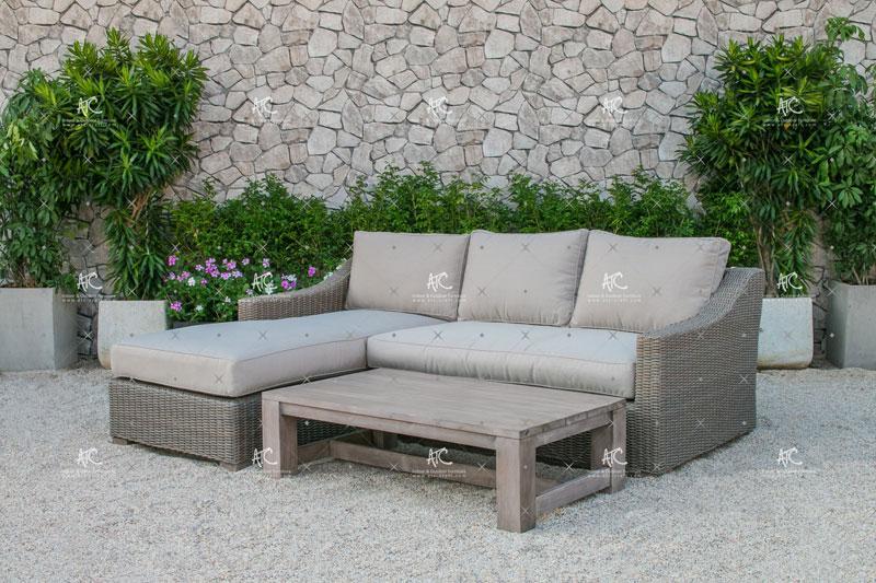 Outdoor wicker sofa set RASF 128