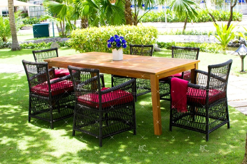Poly rattan dining chair RADS-031