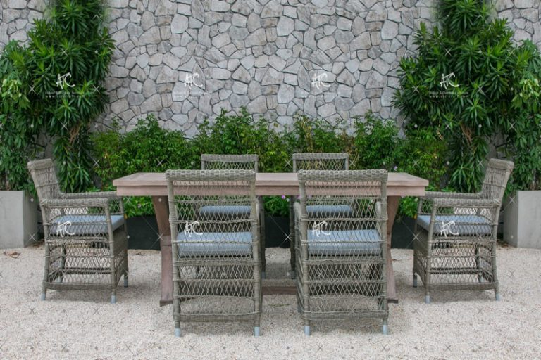 Poly rattan dining set RADS 031