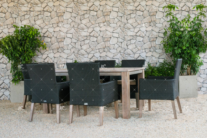 Poly rattan dining set RADS1 132