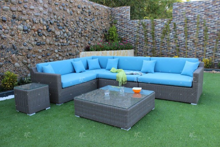 outdoor wicker sofa sets RASF-003A