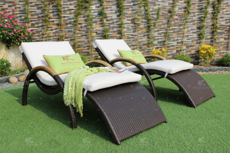patio wicker sunbed RABD-021