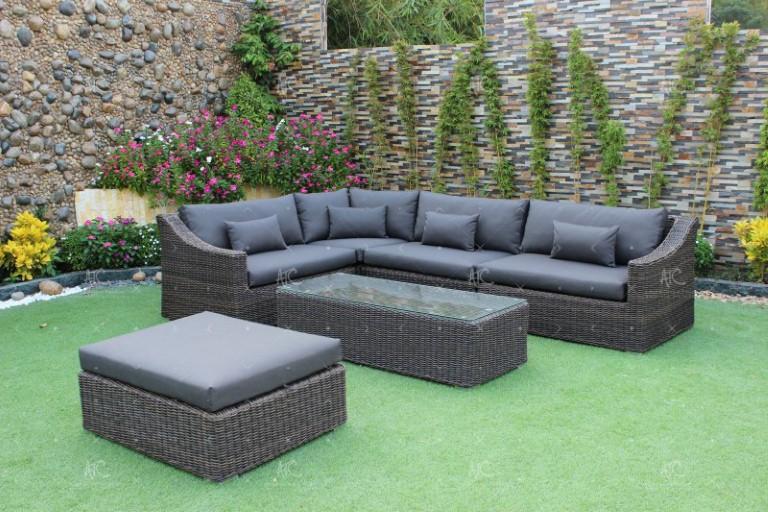 Poly rattan all weather sofa set RASF-095A