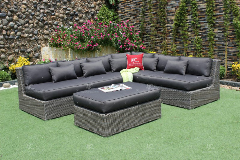 Pvc wicker outdoor furniture RASF-126B