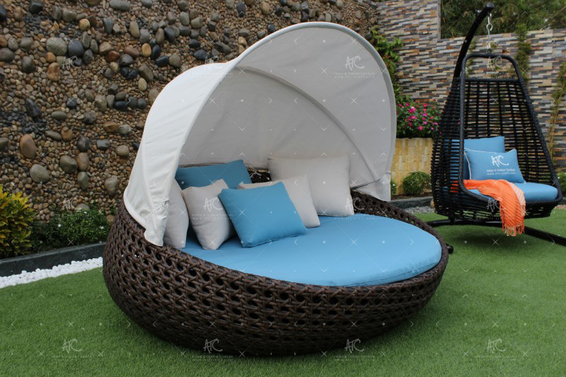 wicker garden furniture factory RABD-062A
