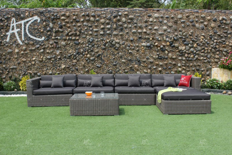 wicker sofa garden RASF-004