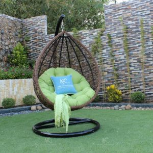 Poly rattan outdoor hammock hanging chair RAHM-006
