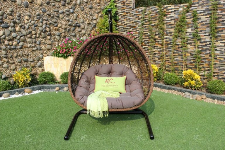 Poly rattan outdoor hammock hanging chair RAHM-013