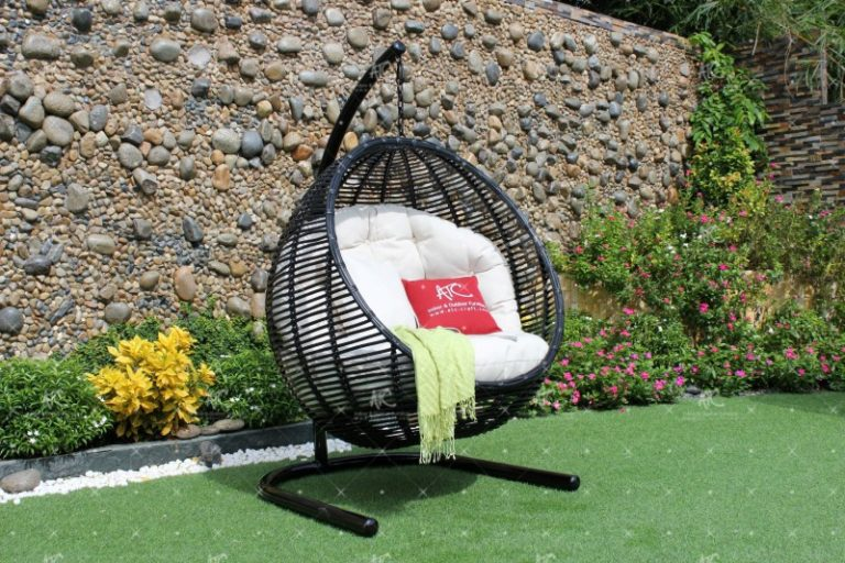 Poly rattan outdoor hammock hanging chair RAHM-017