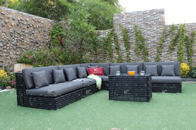 Poly rattan sofa set rasf-065A