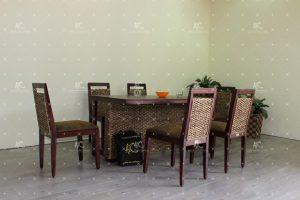 water hyacinth indoor dining sets WADI-019