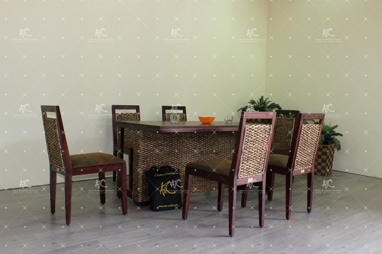 water hyacinth indoor dining sets WADI-019
