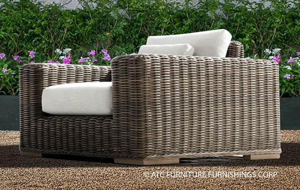 bora rattan wicker furniture single sofa