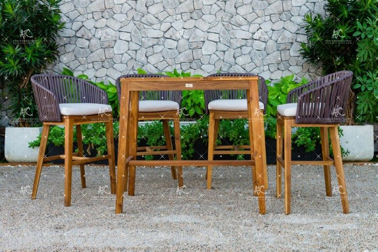 Poly rattan bar set RABR-099