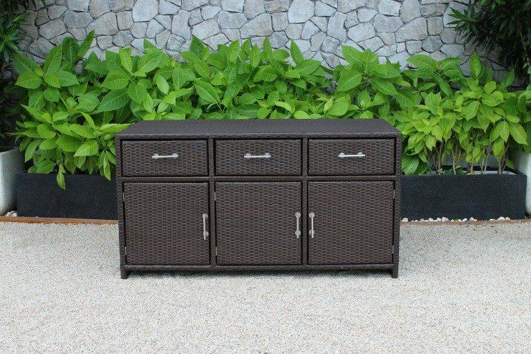 Tủ Mây Nhựa Ngoài Trời 3 Hộc 3 Cánh RACA-001 ATC Furniture