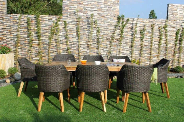Poly rattan dining set RADS-137