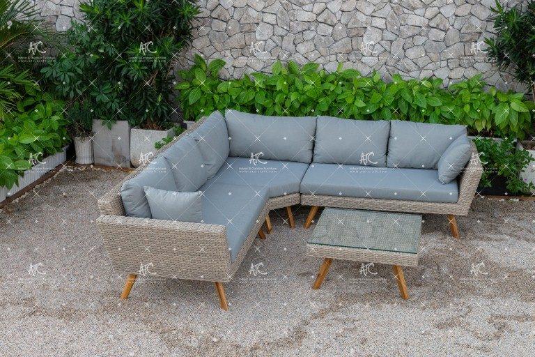 Poly rattan sofa garden RASF-142