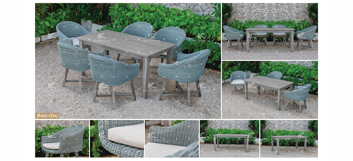 canary wicker outdoor furniture patio dining set