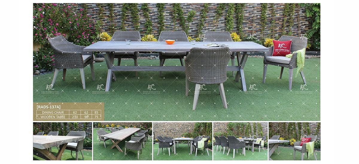 canary teak outdoor furniture garden dining set