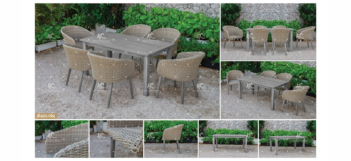 canary pe rattan furniture wicker dining set