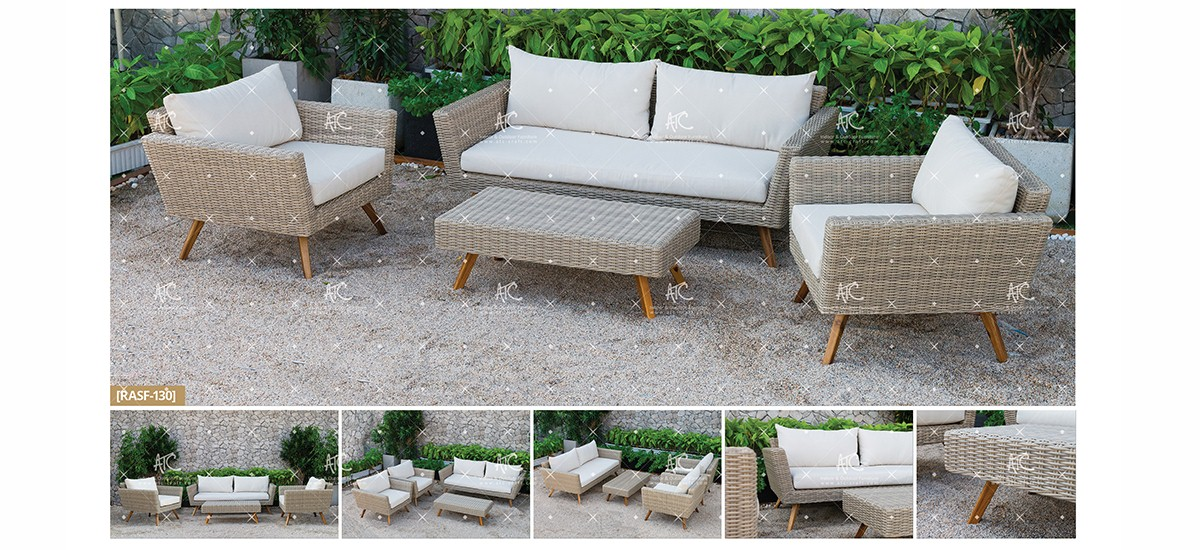 canary poly rattan furniture patio wicker sofa set