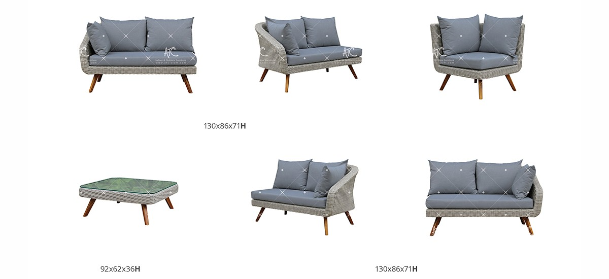 canary rattan patio furniture outdoor sofa set