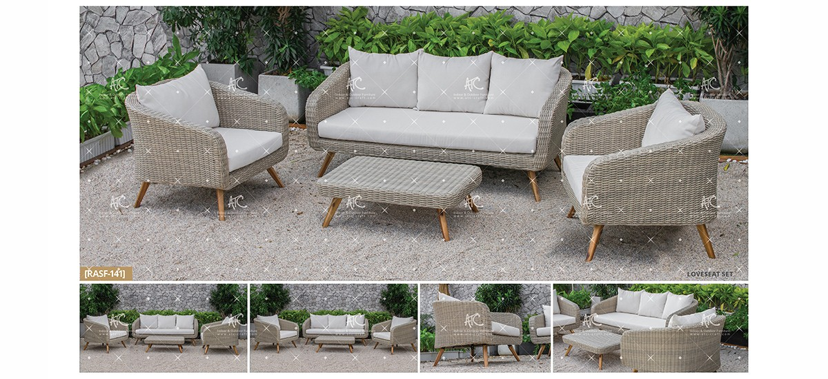 canary poly wicker furniture garden sofa set