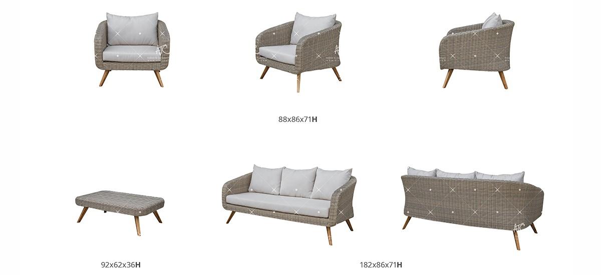 canary poly rattan furniture patio sofa set