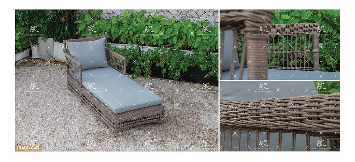 devon rattan furniture wicker garden sun lounger chair