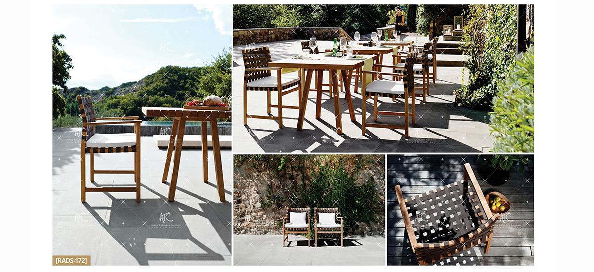 flores garden furniture teak outdoor dining set