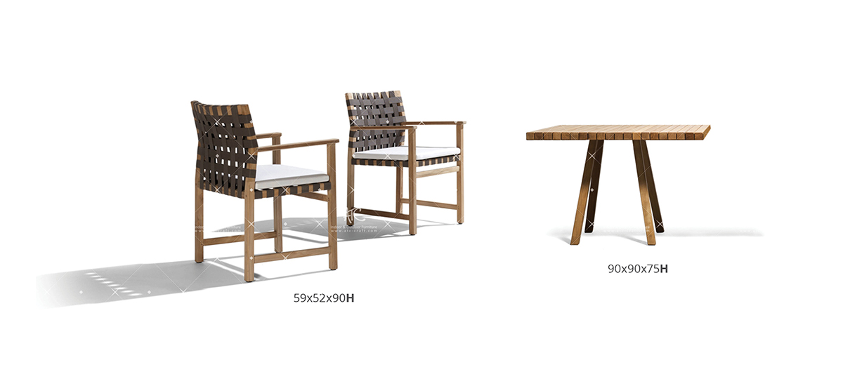 flores wooden garden furniture teak chair and table