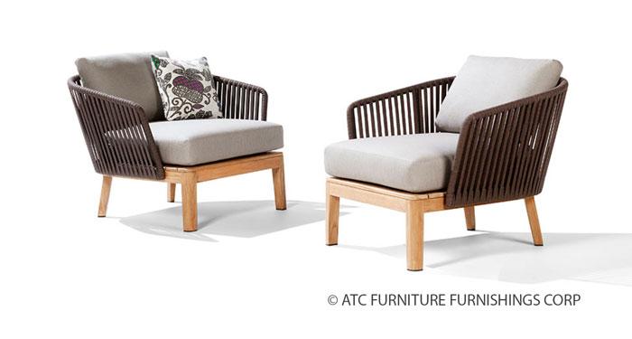 flores garden furniture teak outdoor armchair