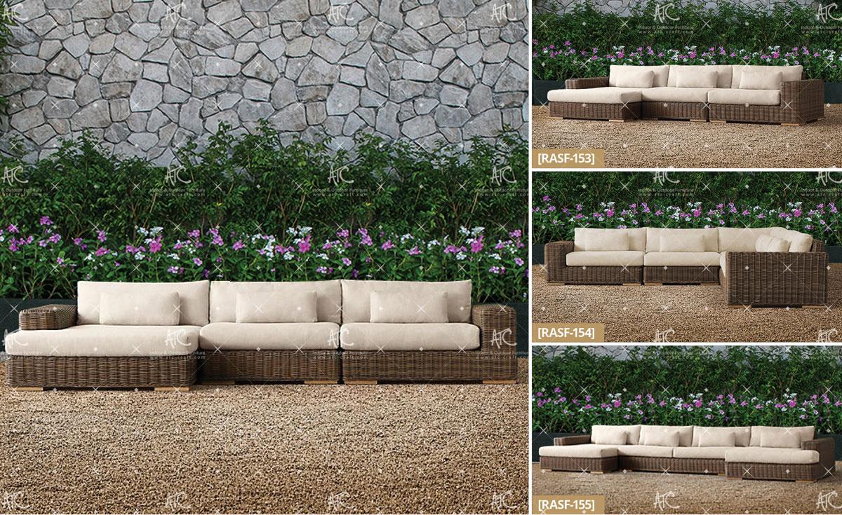 Bora garden rattan furniture sofa set