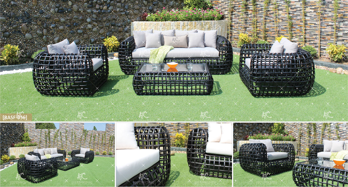 eagle garden furniture synthetic rattan sofa set