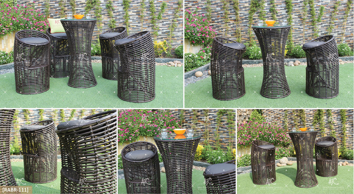 eagle garden furniture pe rattan bar set