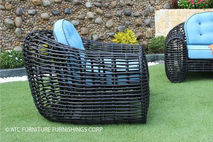 eagle outdoor furniture pe wicker single sofa