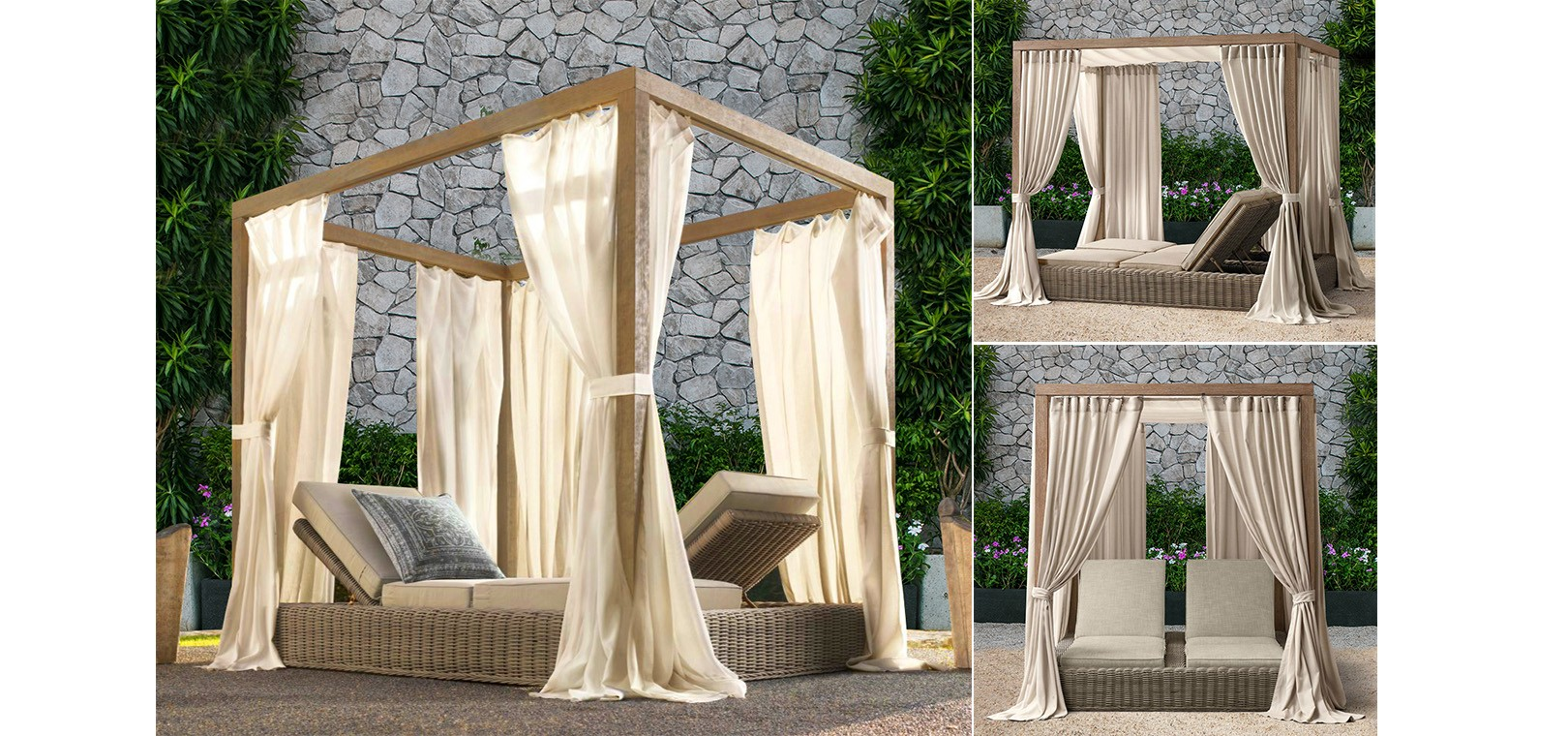 aland collection outdoor furniture daybed sunbrella 4