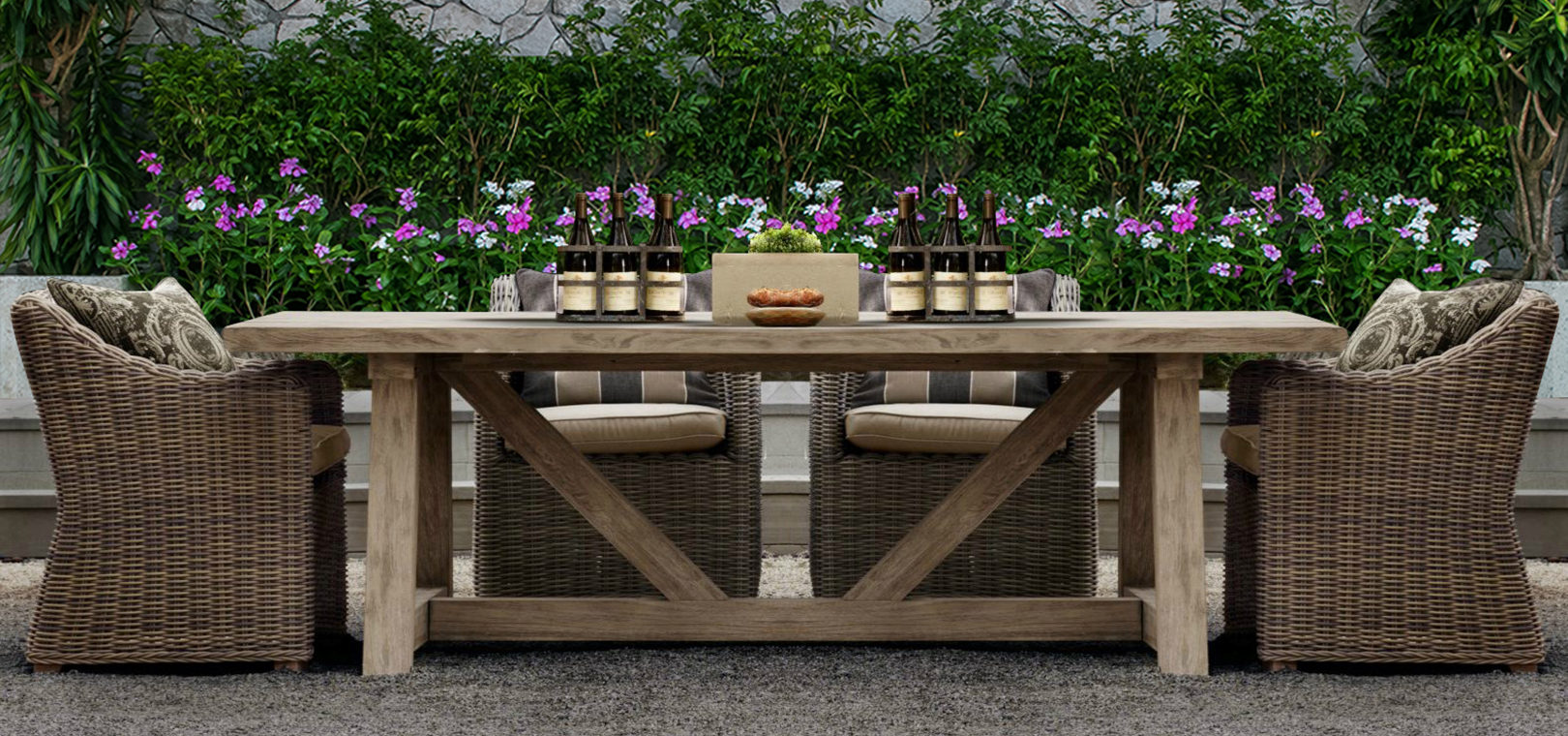 Aland Collection Outdoor Dining Set 6