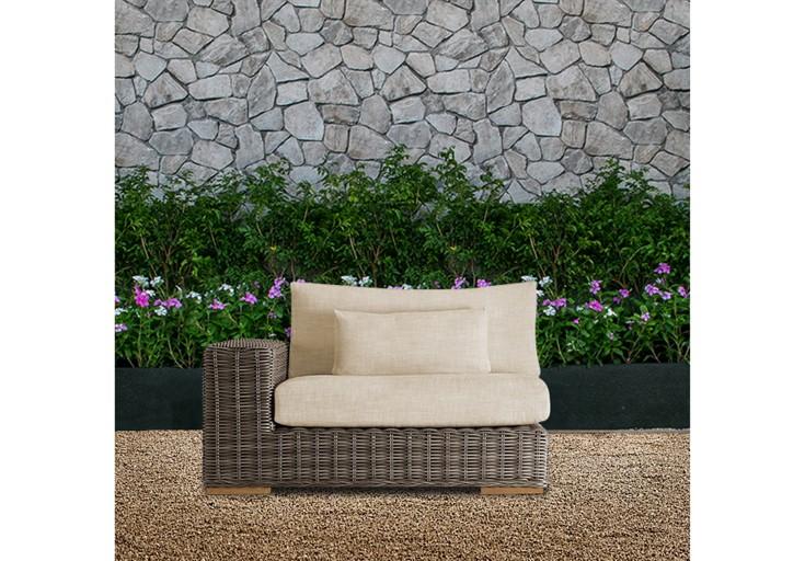 Bora wicker patio furniture single sofa