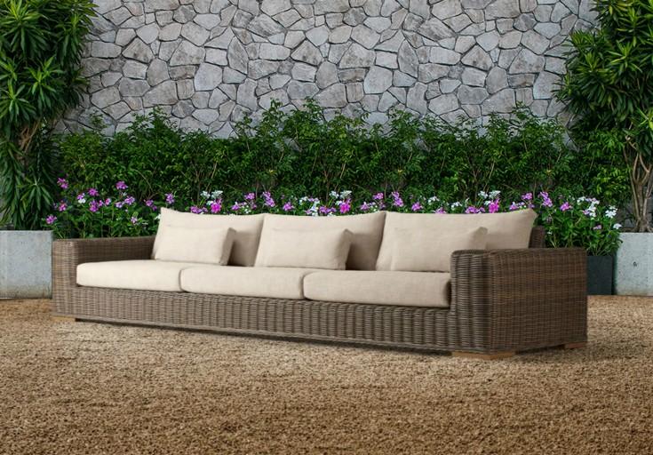 Bora poly wicker furniture single sofa