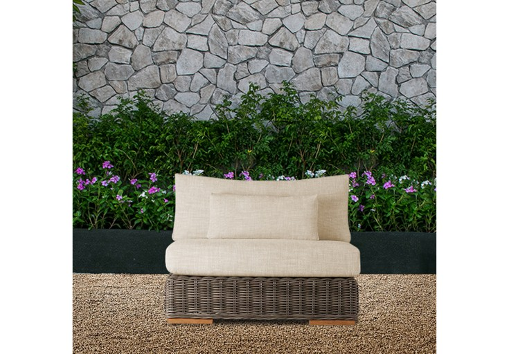 bora rattan furniture single sofa