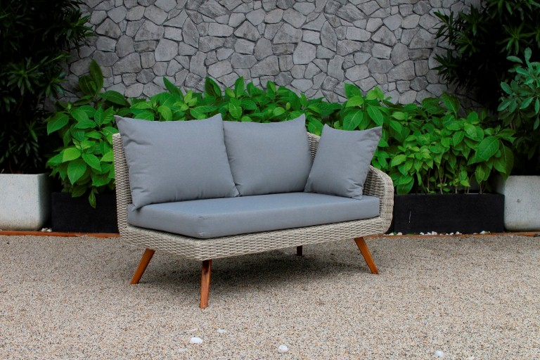 canary pe rattan garden furniture single sofa