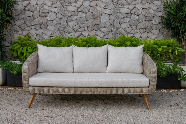 canary rattan garden furniture single sofa