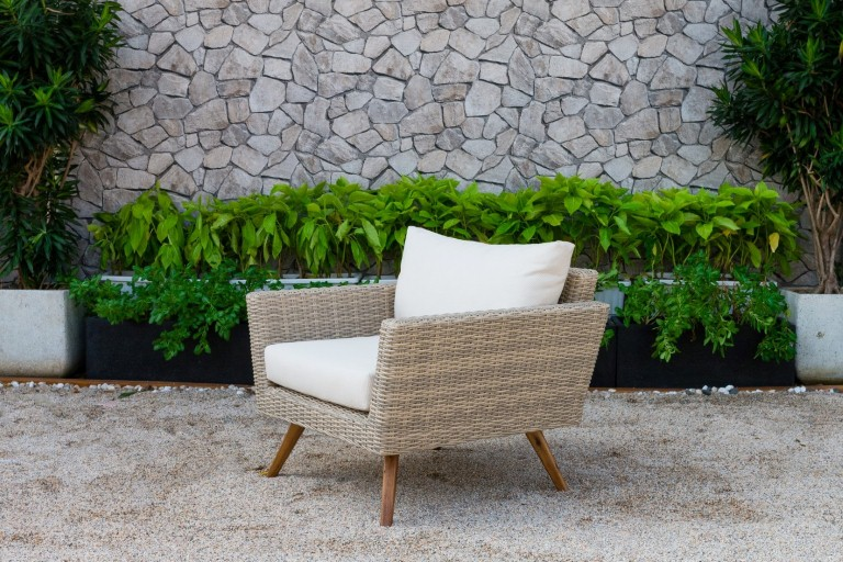 canary poly rattan patio furniture armchair