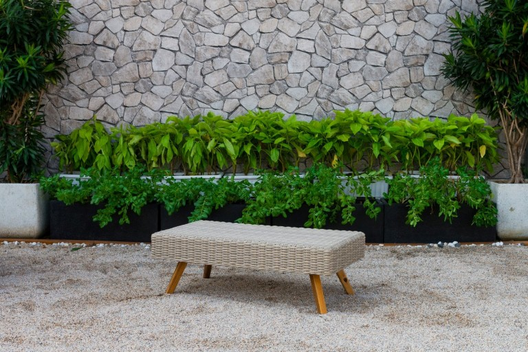 canary wicker garden furniture rattan table
